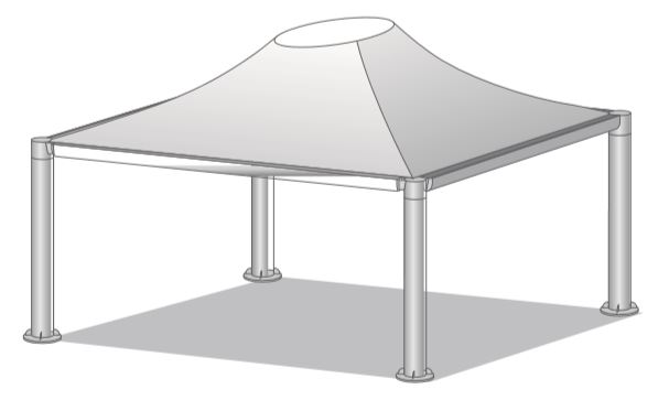 GAZEBO PROFESSIONALE STAR PLUS CERETIFICATO