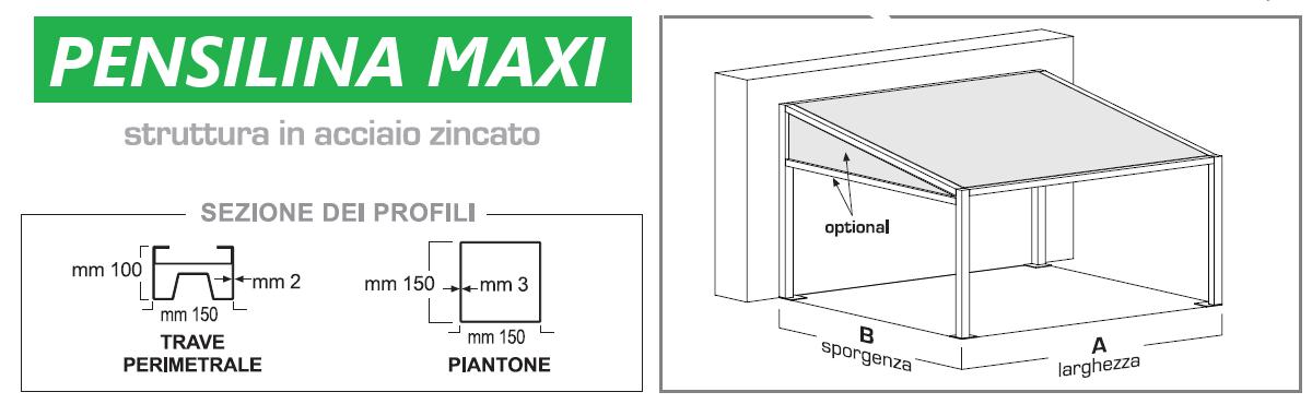 pensilina tettoia pompeiana pergola gazebo  madelux