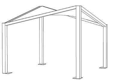 altezza copertura gazebo