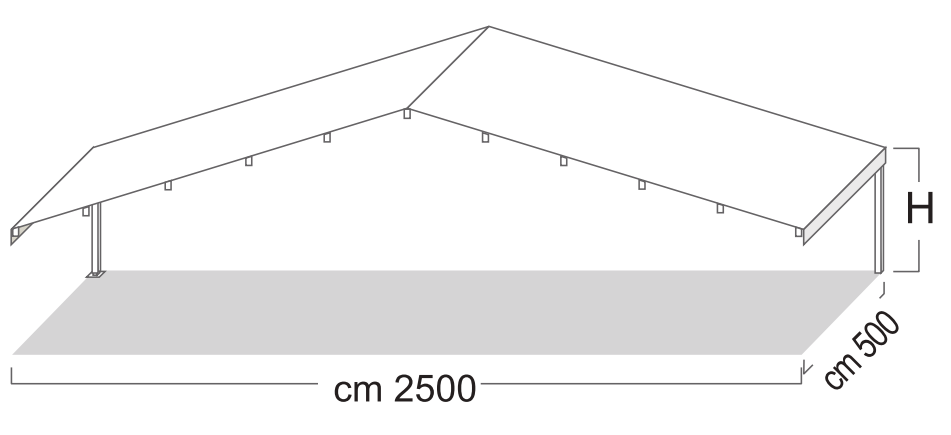 struttura gazebo professionale verniciato alle polveri