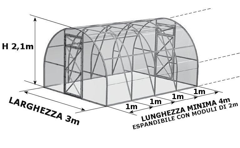 serre tunnel in policarbonato
