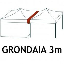 Verandina per gazebo Pieghevole 3x3 m ALU