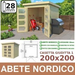 casetta in legno Giuditta 200x200