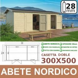 casetta in legno Doble 300x500
