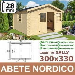 casetta in legno Sally 300x330