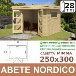 casetta in legno Mimma 250x300