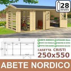 casetta in legno Cristi 250x550