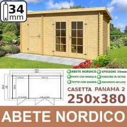 casetta in legno Panama 2 250x380