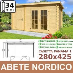 casetta in legno Panama 1 280x425