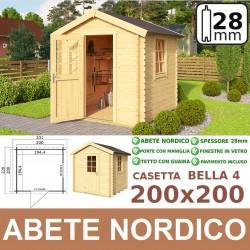 casetta in legno Bella 200x200