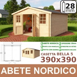 casetta in legno Bella 390x390