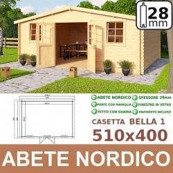 casetta in legno Bella 510x400