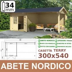 casetta in legno Terry 300x540