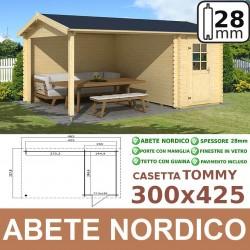 casetta in legno Tommy 300x425