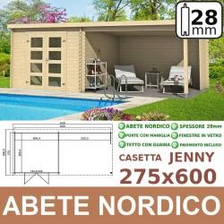 casetta in legno Jenny 275x600