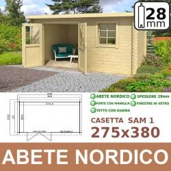 casetta in legno Sam 2 230x380