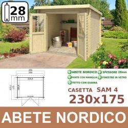 casetta in legno Sam 4 230x175