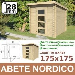 casetta in legno BARBY 175x175