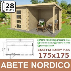 casetta in legno BARBY PLUS 175x175