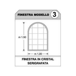 Finestra singola PVC per teli laterali