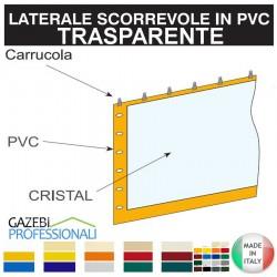 Telo Laterale Gazebo Scorrevole PLUS crystal trasparente