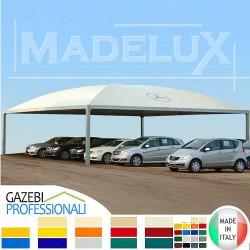 Gazebo tettoia_pensilina_ copertura_ acciaio _pvc_ madelux_ tendone _deposito magazzino pvc_madelux_pvc
