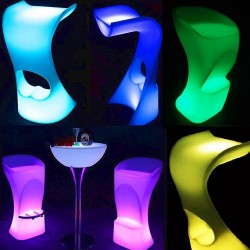 Sgabello sedia luminoso LED multicolore colorato arredi luminosi