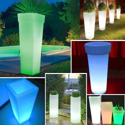 vaso vasi sedia luminoso LED multicolore colorato arredi luminosi